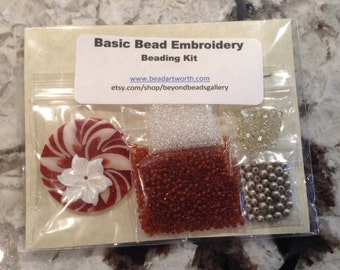 Basic Bead Embroidery Pendant Kit