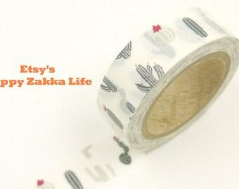 ON SALE - Cactus - Japanese Washi Masking Tape - Daily Like - 11 Yard