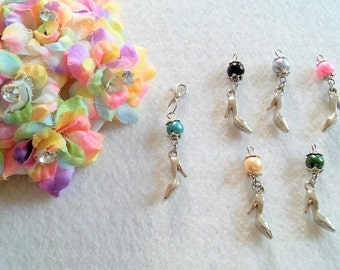 10 multicolor High Heel Zipper Pull Party favors