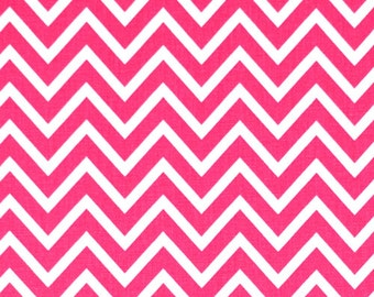 1 Yard Candy Pink ZigZag Fabric - Premier Prints- Chevron Fabric by the Yard. Destash