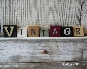 Vintage Game Letters VINTAGE