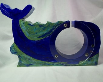 Whale wooden bank - Personalized Free
