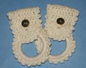 Two Matching  Crochet Towel Rings  Color Aran