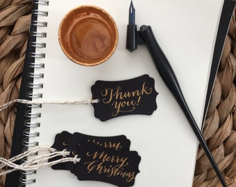 Custom Calligraphy Gift Tags / Thank You Tags / Escort Cards / Seating Cards - 5/pk