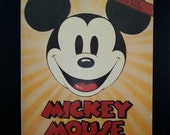 Now On Sale Mickey Mouse Fifty Happy Years Disney Book 1977 Illustrated Book 1970's Coffee Table Book Disneyana Disneyland Collectible