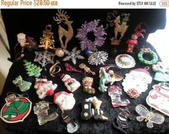 Now On Sale Vintage Christmas tree ornaments 34 piece lot mid century mid century 1960s