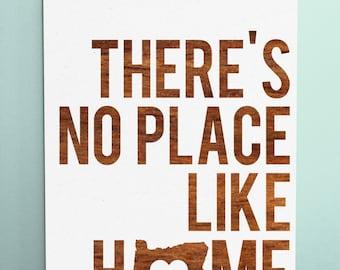 "Wood Sign 12x18 "" No Place Like Home "" Oregon no vinyl"