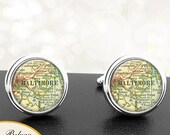 Cufflinks Baltimore Maryland Handmade Cuff Links City State Maps MD Groomsmen Wedding Party Fathers Dads Men