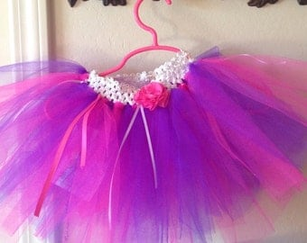 Hot Pink and Purple Itty Bitty Baby Tutu