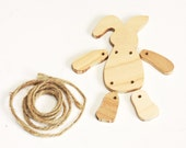 Mini Wood Bunny Kit, Unfinished Small Wooden Easter Rabbit to Paint and Assemble, Spring Craft Project, Folk Art Toy itsyourcountry