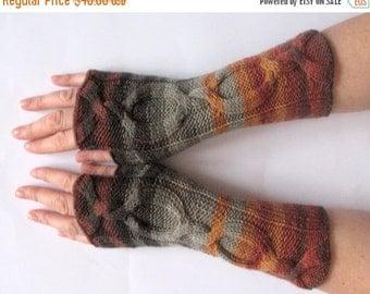 Fingerless Gloves Black Gray brown Beige wrist warmers