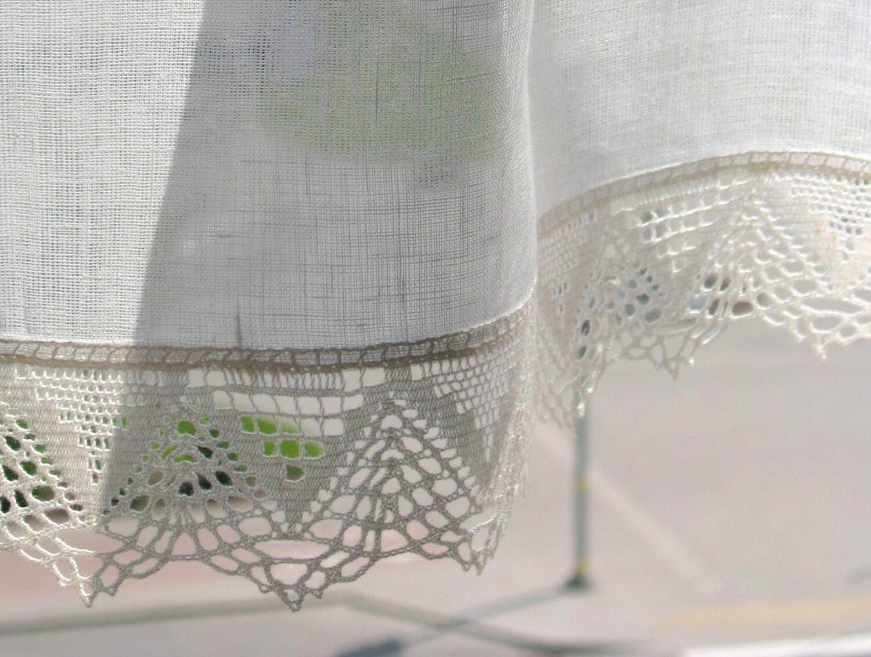 Cortinas blancas de encaje vintage cortinas cafe cortinas for Cortinas vintage