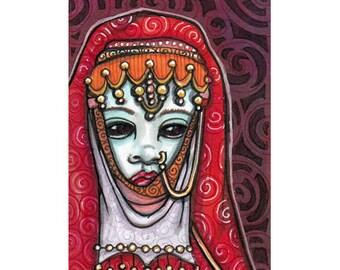ACEO Original Harem Wraith Miniature Art