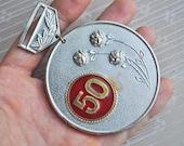 Vintage Soviet aluminum medal,badge.
