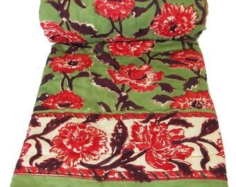 "Mini Quilt - Chrysanthemum Green - 45"" x 56"""