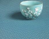 Motif seigaiha pointillé sur fond turquoise - Sevenberry - 50x110