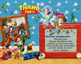 Matching Toy Story Thank you Card, Toy Story Party, Jessie Thank you Card