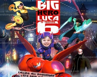 Personalized Big Hero 6 Invitation, Baymax Party, BE HIRO Birthday Invite