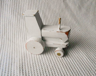 Wooden Tractor Toy Childrens Vintage Shabby Chic Decoration