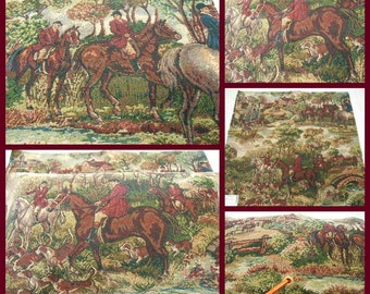 Kravet - Tapestry Fabric- Upholstery Fabric- pc 26.5x26.5 inches -Horses - Novelty Tapestry Fabric