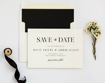 Rustic Chic Save the Date