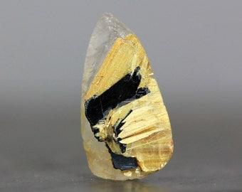 Unpolished Rough Raw Crystal Golden Star Quartz Hematite Rutile Included Gemstone Amplify Energy Leo Taurus Gemini