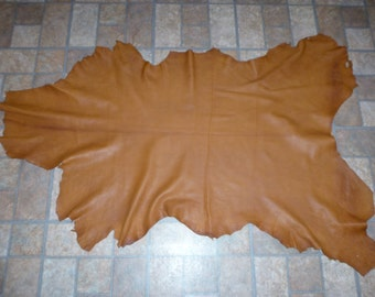 "Leather 42""x25"" Butterscotch Cationic Goatskin (K) Hide 8 sq ft 3 oz / 1.2 mm #E10 PeggySueAlso"