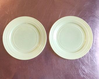 Green Hazel Atlas Dinner Plates, set of 2