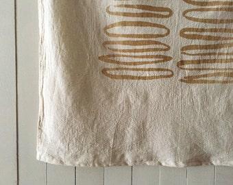 Ovals Natural Cotton Towel. Tea Towel. Flour Sack Tablecloth. Kitchen  Towel. Table