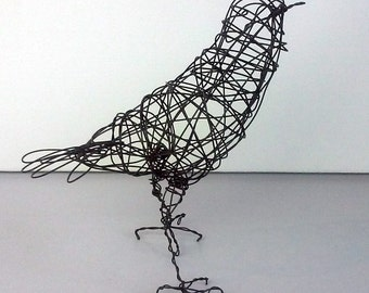 Original Handmade Wire Bird Sculpture - COLSTON