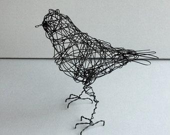 Original Handmade Wire Bird Sculpture - EURYNOME