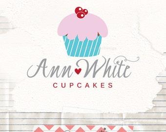 Bakers logo design - bakery logo design - cupcake logo design - watermark logo branding - cake business logo