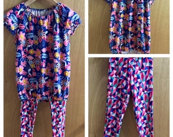 Jersey Knit Top and and Leggings, child size 7/8