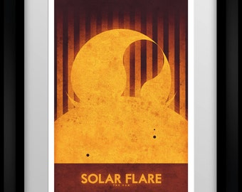 Space Travel Poster - The Sun - Solar Flare