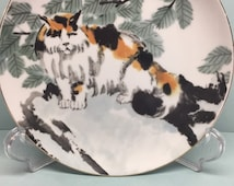 Loneliness Scroll Fine Arts Boston CAT plate  decorative plate collectors plate plate MOFA adaptation from a Chinese painted scroll
