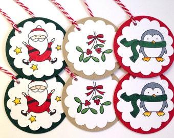 Christmas Tag Set - Variety Christmas Gift Tags - Holiday Gift Tags - Christmas Favor Tags - To From Tags - Winter Hang Tags - Present Tags