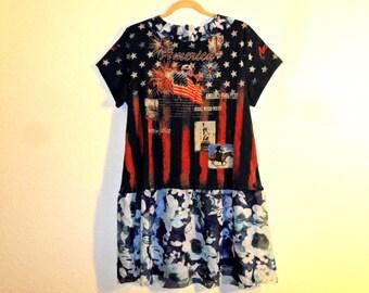 Recycled shirt dress tunic top
