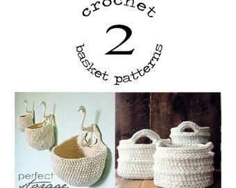 Hanging basket/crochet basket (2 patterns)