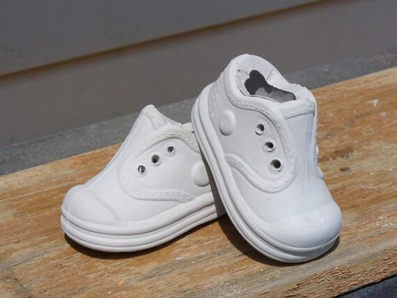ceramic bisque baby tennis shoes