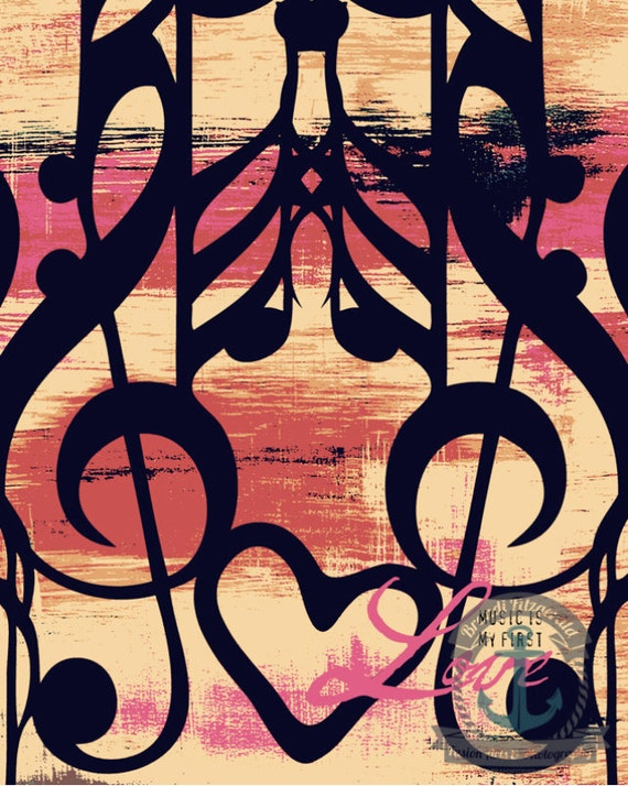 Music Note Quote Musical Colorful Wall Decor Product Options and Pricing via Dropdown Menu