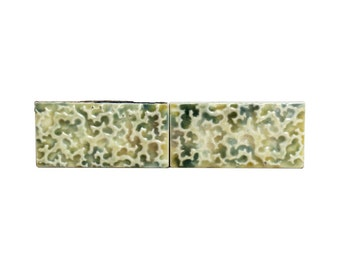 Set of 4 textured decorative ceramic tiles