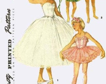 Reproduction Ballet Tutu Costume Sewing Patterns S4863 Size 8 - PDF