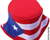 Puerto Rico Flag Bucket Hat | Puerto Rico Hat | Puerto Rico Flag | Puerto Rican | Boricua | Red White Blue Hat by Hamlet Pericles (HP22416a)