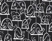 Michael Miller fabric by the yard Bird Swing in Black 1 Yard