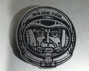 Custom MAJOR TOM MAGNET Bowie Schilling Songs Pinback Astronaut Space