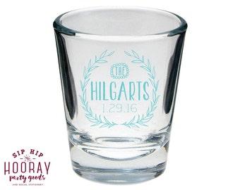 Shot Glasses, Wedding Favors, Rustic Wedding Shot Glasses, Personalized Shot Glasses, Wedding Shot Glasses, Custom Shot Glass, Favors, 1253