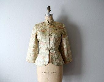 1950s jacket . vintage Alfred Shaheen brocade jacket