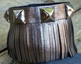 Womens Cuff Bracelets | Fringed Leather Cuff | Studded Cuff| Metallic Bracelet | Studded Bracelet | Fringed Bracelet | Leather Cuffs