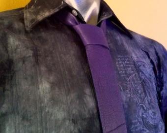 Purple Tie   Purple Necktie   Mens Neckties   Skinny Necktie   Leather Necktie   Mens Purple Tie   Mens Skinny Tie   Handmade Tie