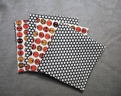 Cloth Napkins Ladybugs and Dots Red Black and White